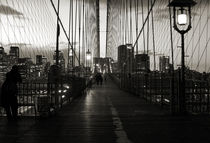 Nightfall on the Brooklyn Bridge by RicardMN Photography