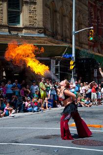 Firespitter girl by Alberto Vaccari