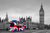 Union Jack London Bus by Alice Gosling
