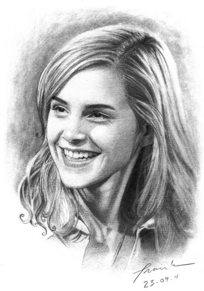 Emma Watson Drawing Art Prints And Posters By Frank go
