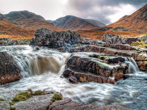 Waterfall On The River Etive by Amanda Finan