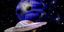 Ferne, blaue, extra - terrestrische Welt. by Bernd Vagt