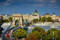 The famous Chain bridge in Budapest by Tanja Krstevska