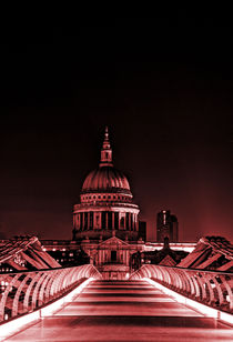 St Paul's cathedral in the pink by Sara Messenger