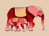 Elefantenmama von Hildegard Maria Endner