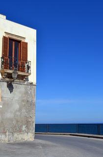 Sizilien, Balkon mit Panorama von sandarine