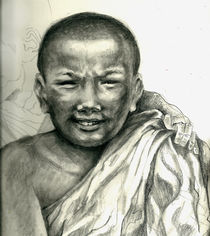 """PROTECT OUR CHILDREN"" Series - Tibet (""young Lama monks"") by Pris Tang"