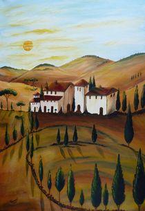 Sonnenaufgang in der Toskana 2 by Christine Huwer