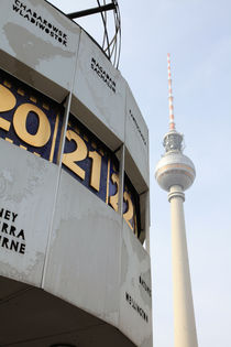 Weltzeituhr + Berliner Fernsehturm von Falko Follert