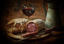 Still life with salami and sourdough von Dave Milnes