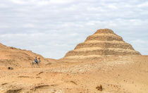 Sakkara Stepped Pyramid and Horseman by Graham Prentice