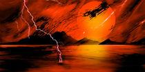 Dort, wo der Himmel brennt. by Bernd Vagt