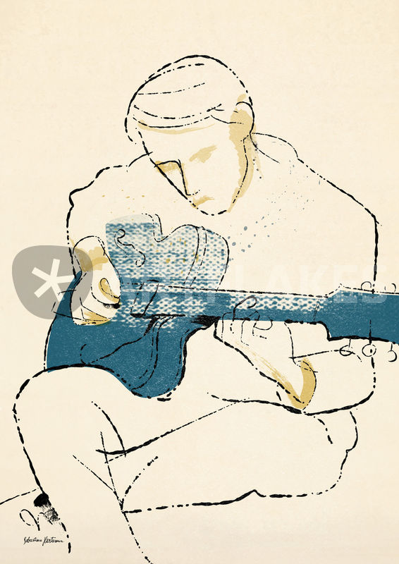 "new prints ""blue guitar"""
