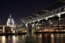 St Paul's & Millennium Bridge von Thamer Al-Hassan