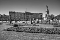 Buckingham Palace black and white by David J French
