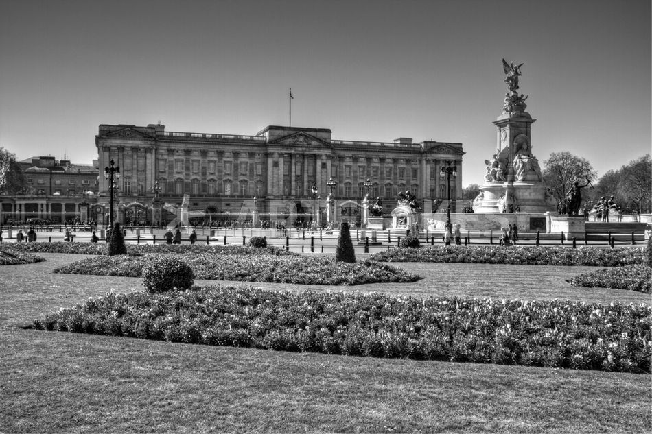 buckingham palace black and white photography art prints and posters by david j french. Black Bedroom Furniture Sets. Home Design Ideas