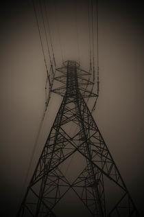 Power Pylon in fog by Lars Hallstrom