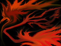 dog flames in the dark by Alvin Andro Meda