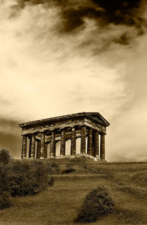 Penshaw Monument in sepia by Kevin Tate