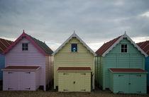 Mersea Beach Huts  by Nigel  Bangert