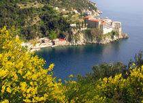 Kloster Grigoriou auf dem Berg Athos in Griechenland by Jürgen Effner