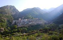 Kloster Agiou Pavlou auf dem Berg Athos in Griechenland by Jürgen Effner