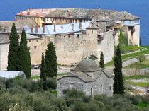 Kloster Megisti Lavra auf dem Berg Athos in Griechenland by Jürgen Effner