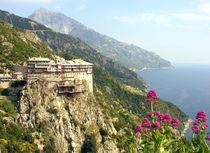 Kloster Simonopetra auf dem Berg Athos in Griechenland by Jürgen Effner