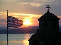 Kirche in der Abendsonne in Griechenland by Jürgen Effner