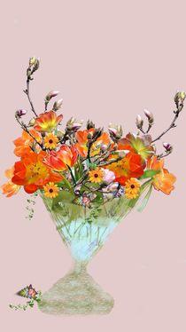 Frühlingsstrauß in alter Vase von Ingrid Eichhorst