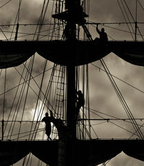 Three sailors by Lars Hallstrom