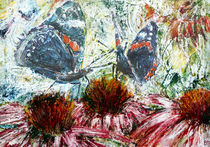Butterflies On A Flowering Shrub von florin