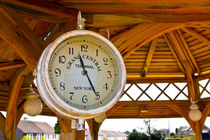 Antique Garden Clock by Buster Brown Photography