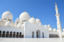 Sheikh Zayed Mosque in Abu Dhabi, United Arab Emirates by Tanja Krstevska