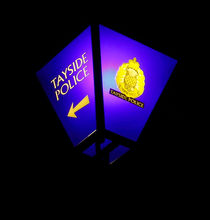 Blue Police Lamp von Buster Brown Photography