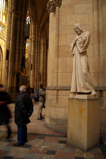 Statue of Christ in St Vitus Cathedral by serenityphotography