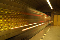 Subway - Train Arrives by serenityphotography