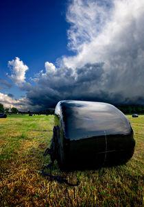 wrapped up hay bales von meirion matthias