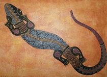 Gecko Malerei der Aborigines by Lidija Kämpf