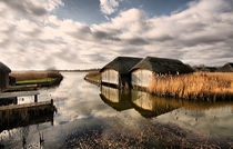 Norfolk Boat Huts by sandra cockayne