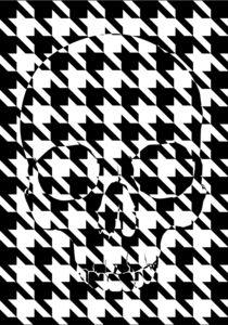 houndstooth skull #4 by skarmut