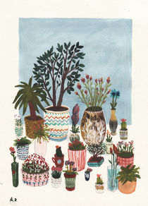 Potted Flowers I von Angela Dalinger