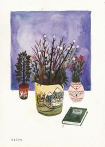 Potted Flowers III von Angela Dalinger