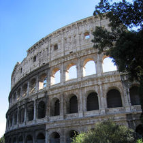 Colosseum, Rome, partial view, square composition by Linda More