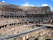 Colosseum interior, Rome, Italy by Linda More