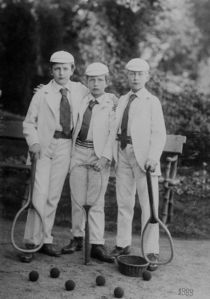 Drei-tennisspieler