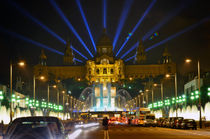 Famous light show in front of the National Art Museum in Barcelona by Tanja Krstevska