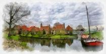 Enkhuizen digital paint 2 by Wessel Woortman