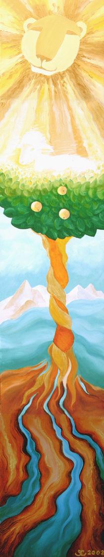 THE LION, THE LAMB AND THE TREE OF LIFE / DER LÖWE, DAS LAMM  UND DER BAUM DES LEBENS by Sandra Yegiazaryan