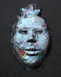 newspaper mask by filisty